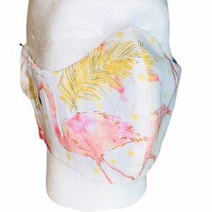 Flamingo 3 Layers 100% Cotton Homemade Face Mask